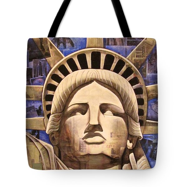 Lady Liberty Tote Bag by Joseph Sonday