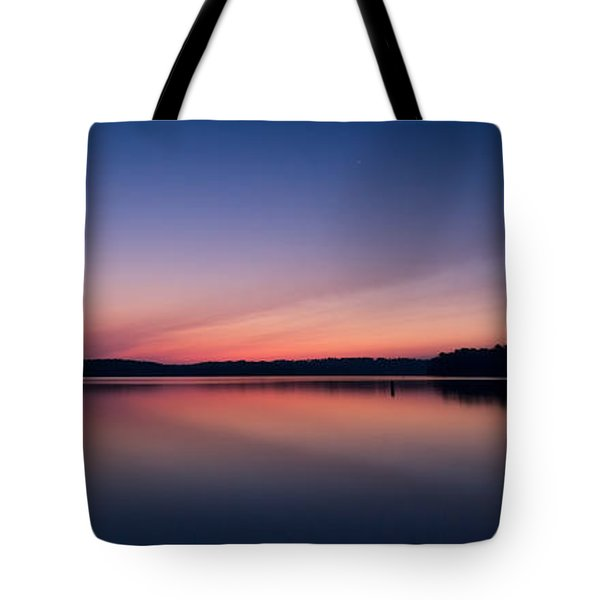 Tote Bag featuring the photograph Lake Lanier After Sunset by Bernd Laeschke