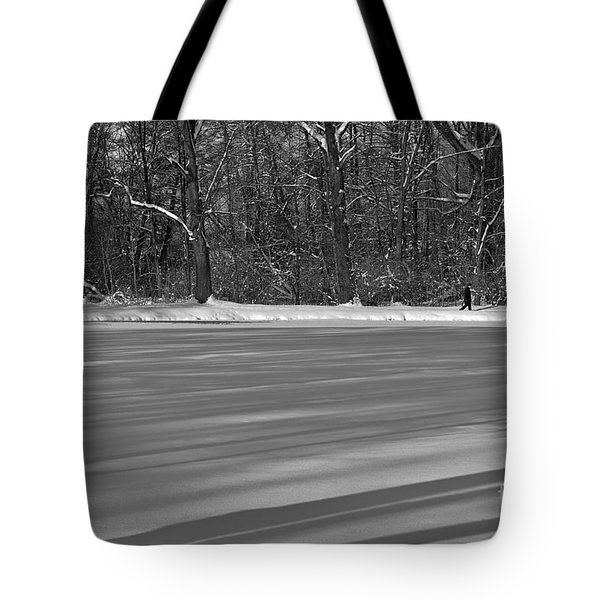 Lake Under Snow Tote Bag