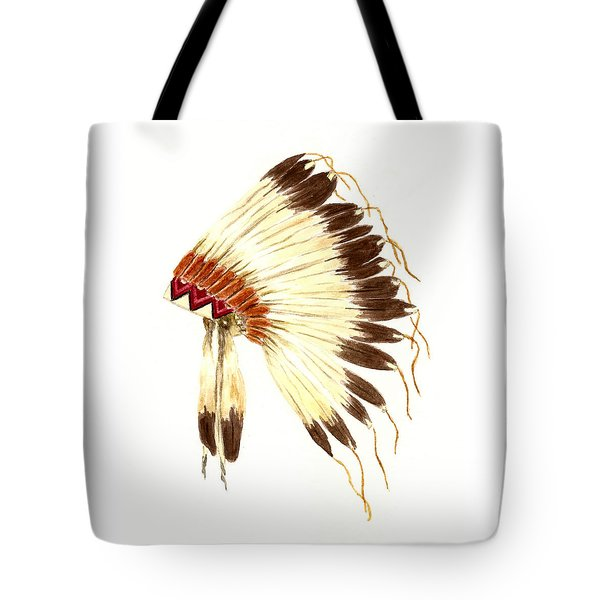 Lakota Headdress Tote Bag