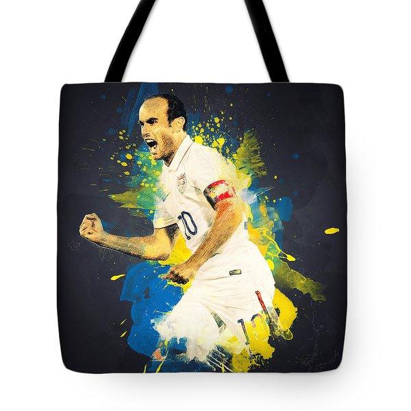 Landon Donovan Tote Bag by Taylan Apukovska