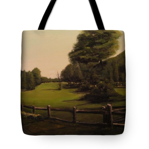 Landscape Of Duxbury Golf Course - Image Of Original Oil Painting Tote Bag