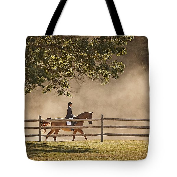 Last Ride Of The Day Tote Bag by Joan Davis
