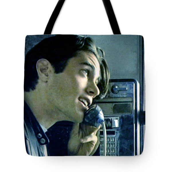 Tote Bag featuring the painting Leo Johnson Are You Telling Me There's No Santa Claus by Luis Ludzska