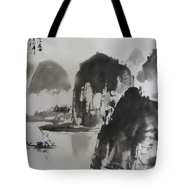 Li River Tote Bag by Yufeng Wang