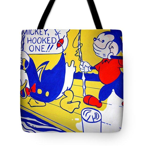 Lichtenstein's Look Mickey Tote Bag