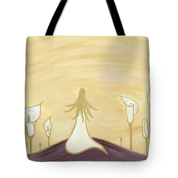 Lilies Of The Field Tote Bag by Angelina Vick