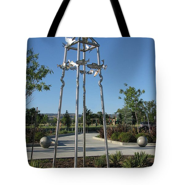 Little Chico Creek Sculpture Tote Bag by Peter Piatt