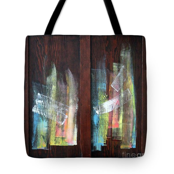 Log Fire Cabinet Door Tote Bag by Asha Carolyn Young