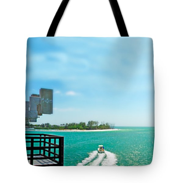 Longboat Pass Drawbridge Tote Bag