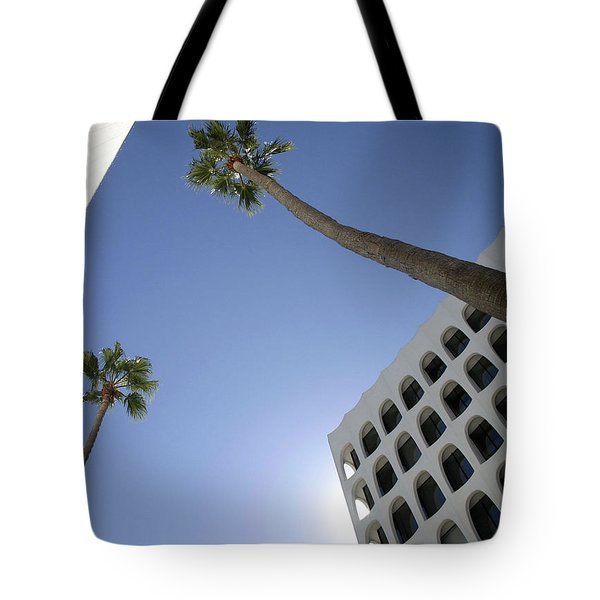 Tote Bag featuring the photograph Looking Up In Beverly Hills by Cora Wandel