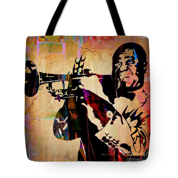 Louis Armstrong Collection Tote Bag by Marvin Blaine