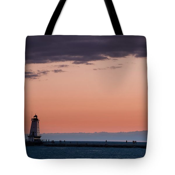 Ludington North Breakwater Lighthouse Tote Bag