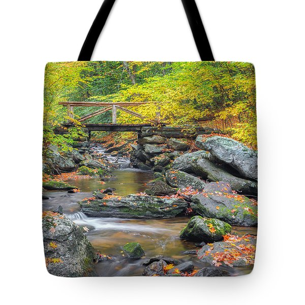 Tote Bag featuring the photograph Macedonia Brook by Bill Wakeley