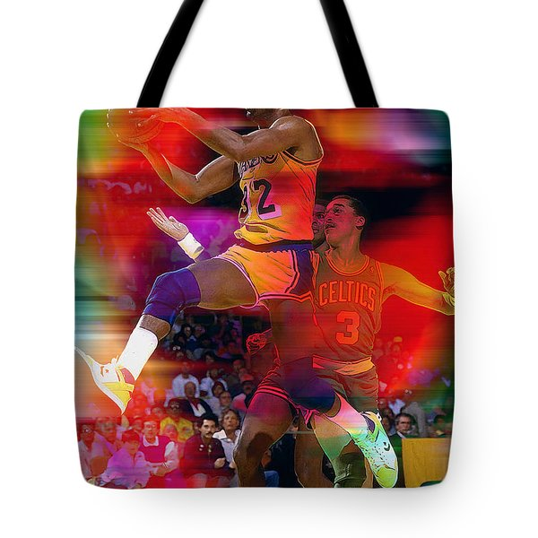 Magic Johnson Tote Bag by Marvin Blaine