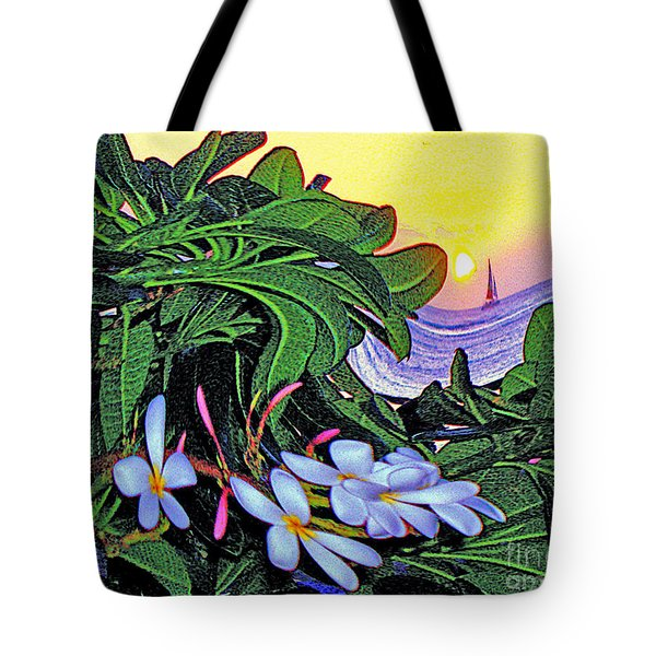 2 Mai Tais Waikiki Hawaii Tote Bag by Jerome Stumphauzer