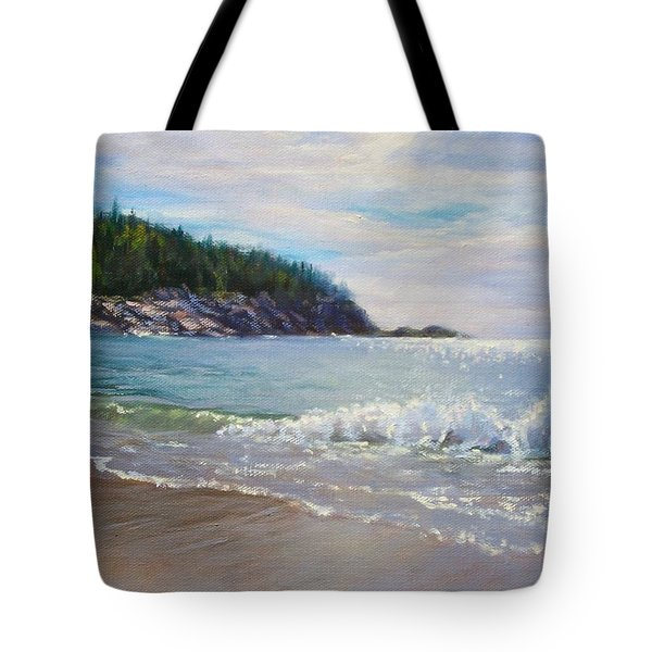 Maine Morning Tote Bag by Bonnie Mason