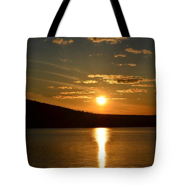 Tote Bag featuring the photograph Maine Sunset by James Petersen