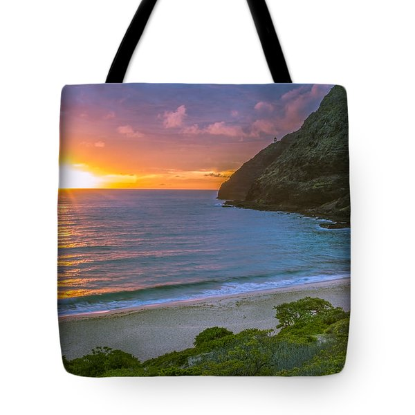 Makapuu Sunrise 1 Tote Bag by Leigh Anne Meeks
