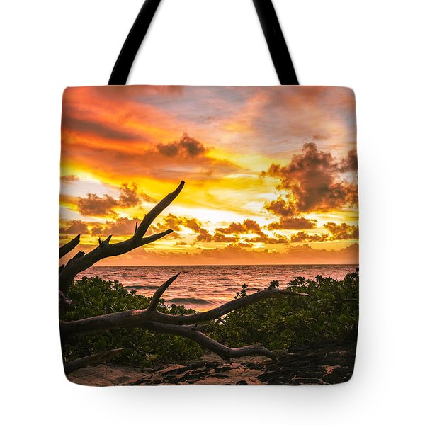 Makapuu Sunrise 4 Tote Bag by Leigh Anne Meeks