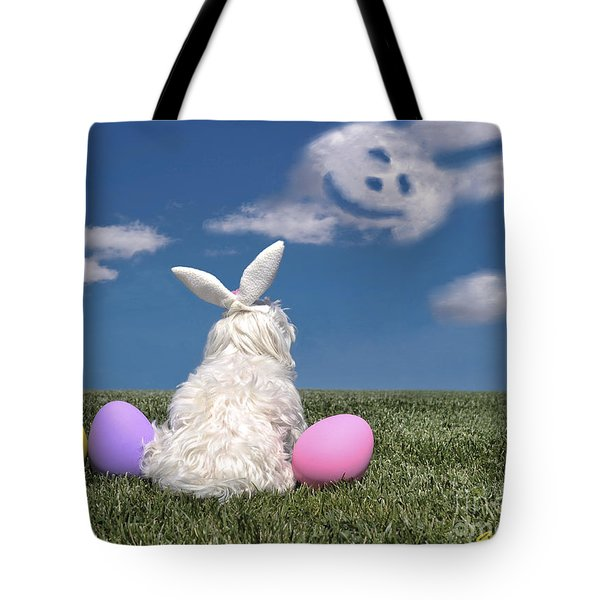 Maltese Easter Bunny Tote Bag