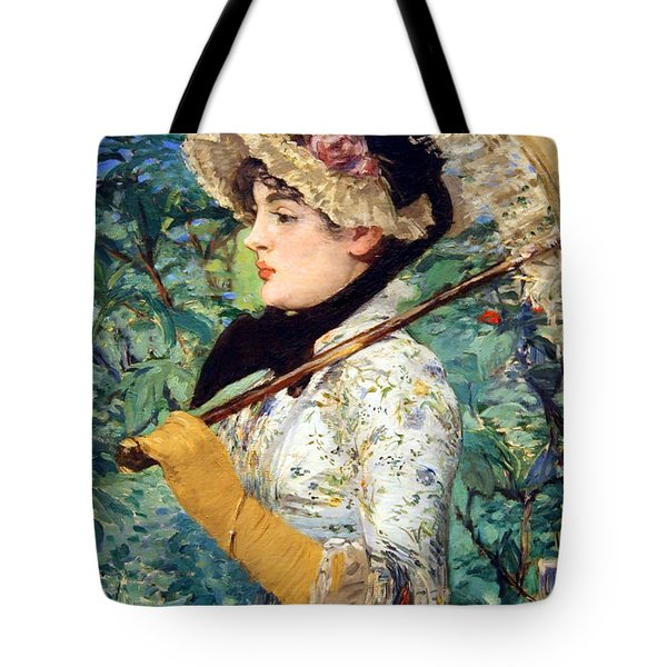 Tote Bag featuring the photograph Manet's Spring by Cora Wandel