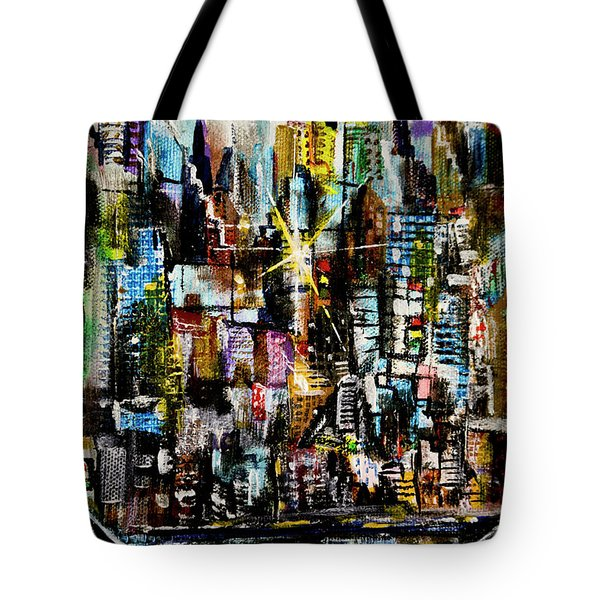Manhattan Morning Tote Bag
