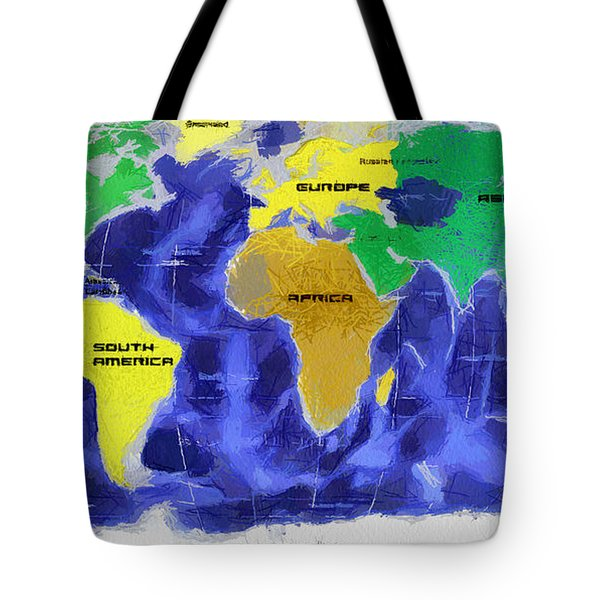 Map Of The World Tote Bag by Georgi Dimitrov
