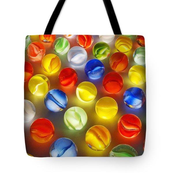 Marbles Tote Bag by Jim Hughes