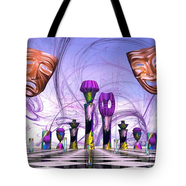 Mardi Gras Chess Tote Bag