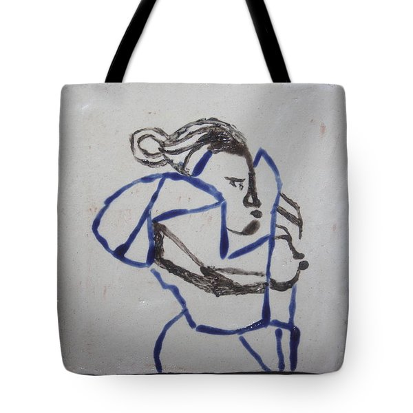 Maria - Tile Tote Bag by Gloria Ssali