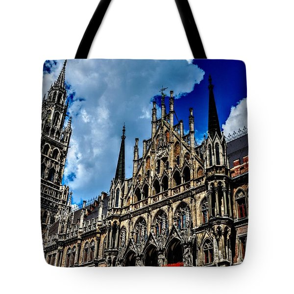 Tote Bag featuring the photograph Marienplatz In Munich by Joe  Ng