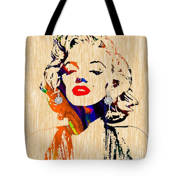 Marilyn Monroe Diamond Earring Collection Tote Bag
