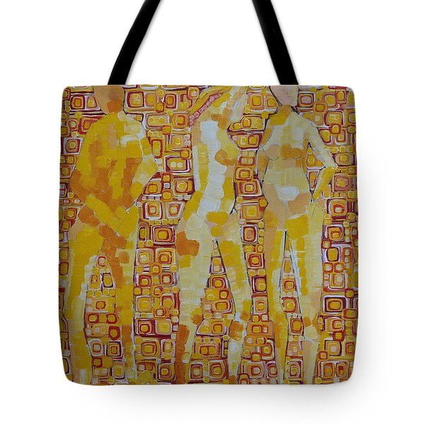 Mary Gestured Thrice Tote Bag