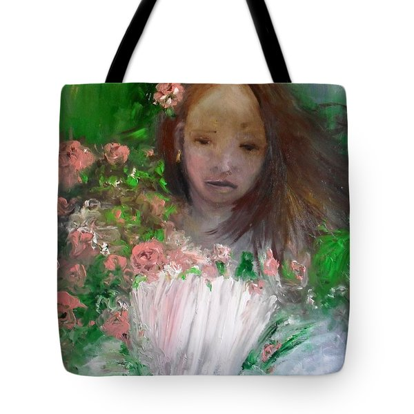 Mary Rosa Tote Bag by Laurie L