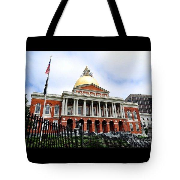 Massachusetts State House Boston Ma Tote Bag