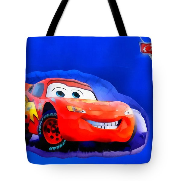 Mcqueen Cars Tote Bag by George Rossidis