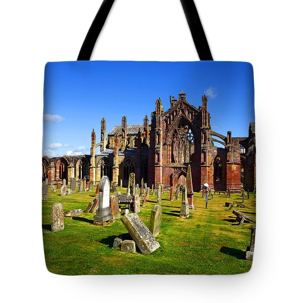 Tote Bag featuring the photograph Melrose Abbey Scotland by Craig B