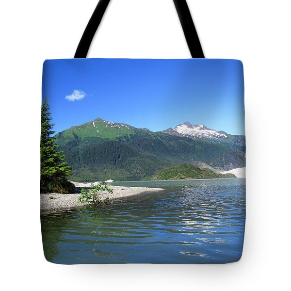 Mendenhall Glacier Tote Bag by Jennifer Wheatley Wolf