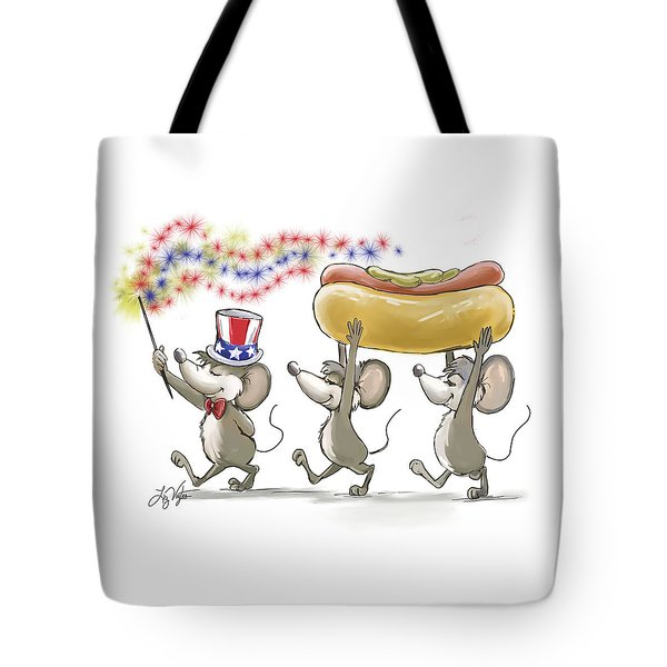 Mic Mac And Moe's Happy 4th Of July Tote Bag
