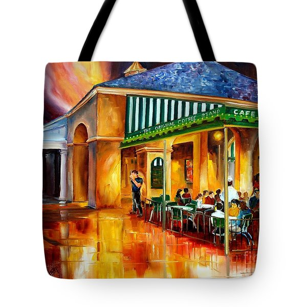 Midnight At The Cafe Du Monde Tote Bag