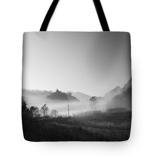 Mist In The Valley Tote Bag by Setsiri Silapasuwanchai