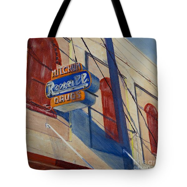 Mitchum's Drug Store Tote Bag by Janet Felts