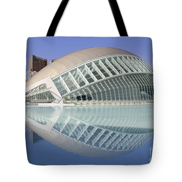 The Hemisferic In Valencia Spain Tote Bag