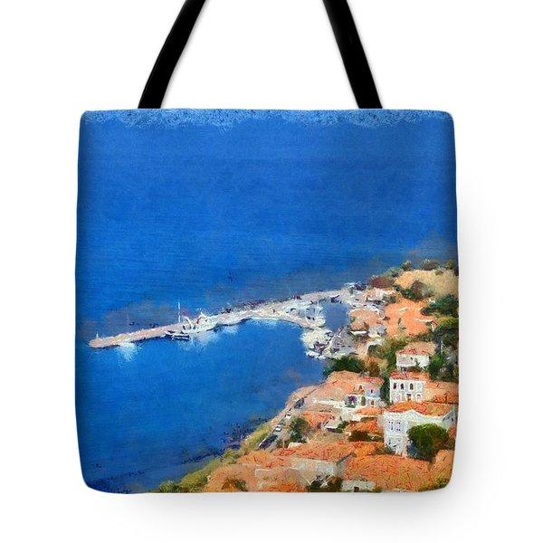 Molyvos Town Tote Bag by George Atsametakis