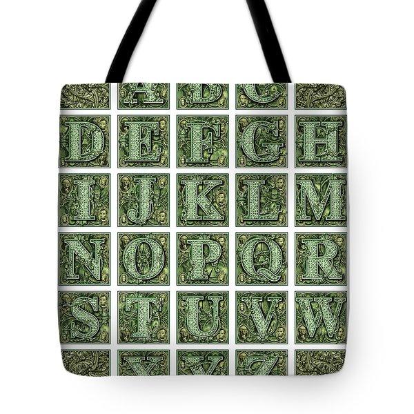 Money Alphabet Tote Bag