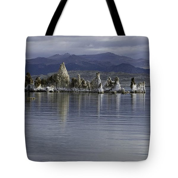 Tote Bag featuring the photograph Mono Lake by Betty Depee