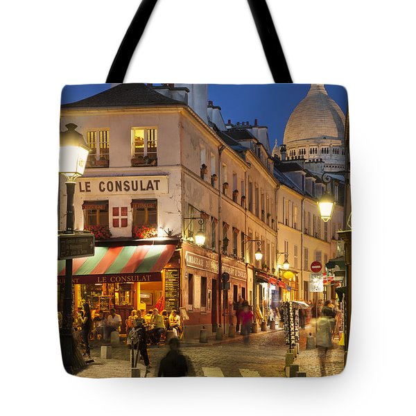 Montmartre Twilight Tote Bag by Brian Jannsen