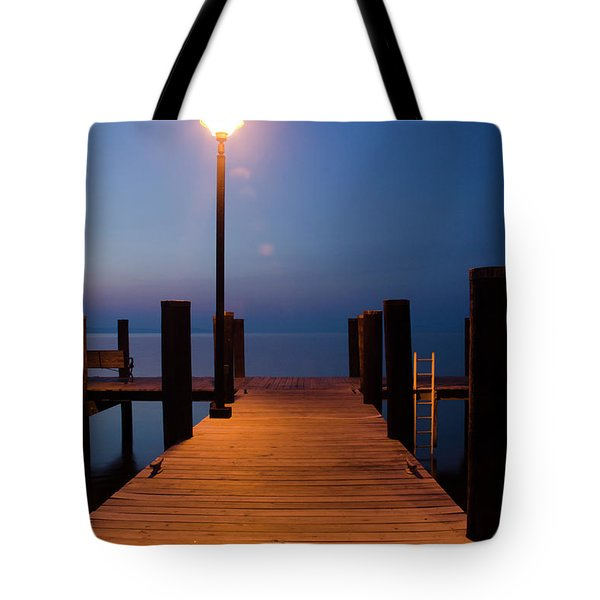 Morning On The Dock Tote Bag