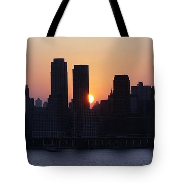 Tote Bag featuring the photograph Morning On The Hudson by Lilliana Mendez